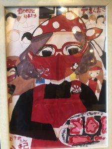 女の子が描いてくれた八起のおばちゃん