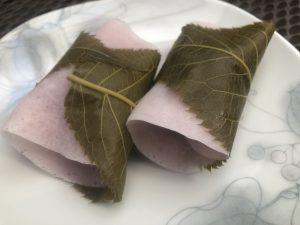老舗和菓子屋さんの桜餅